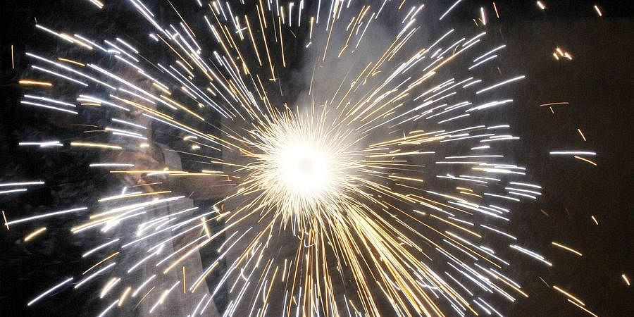 Crackers can be burst only between 8 p.m. and 10 p.m. on Diwali and between 11:45 p.m. to 12:30 a.m. on New Year and Christmas. (Photo | EPS)