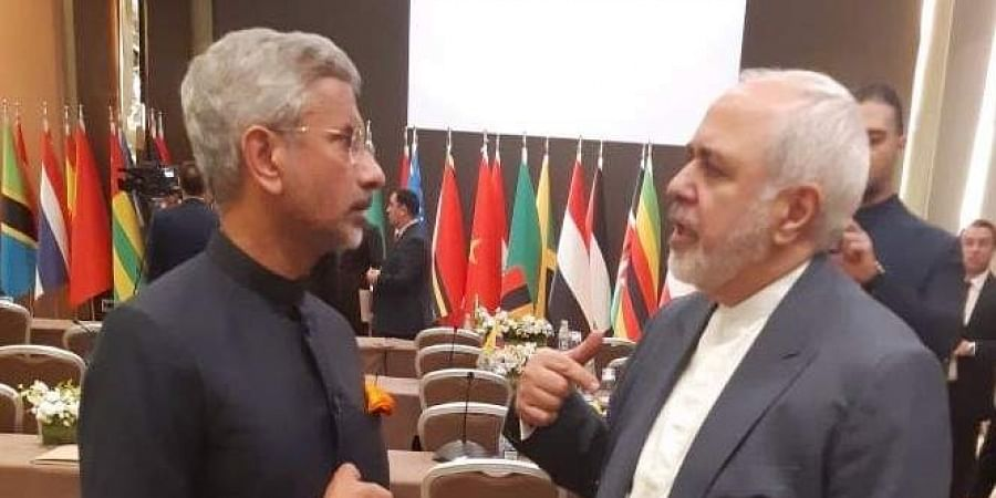 External Affairs Minister S Jaishankar with his Iranian counterpart Javad Zarif.