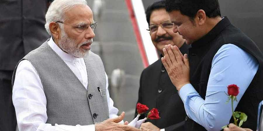 PM Narendra Modi with Maharashtra CM Devendra Fadnavis