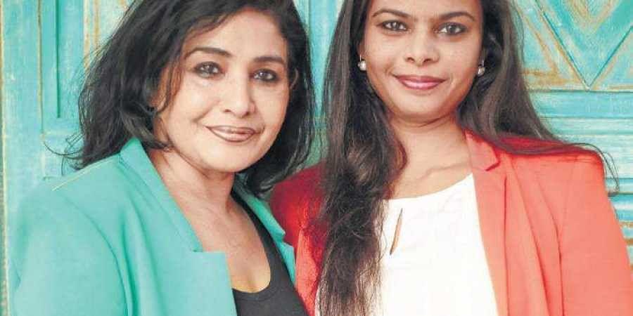 Nivruti with mother Nina Reddy