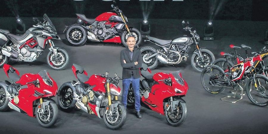 Claudio Domenicali, CEO of Ducati Motor Holding, launches its product line for the next calender year on Thursday