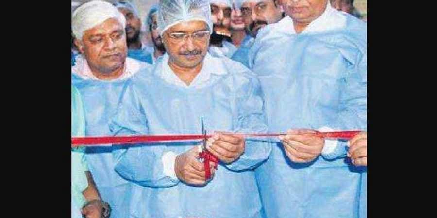 Chief Minister Arvind Kejriwal opens the new unit at Rajiv Gandhi Super Specialty Hospital