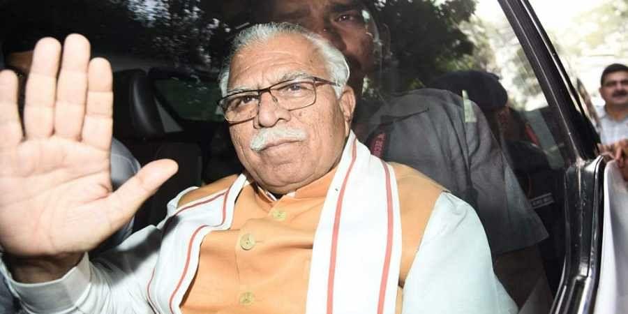 Haryana Chief Minister Manohar Lal Khattar in New Delhi
