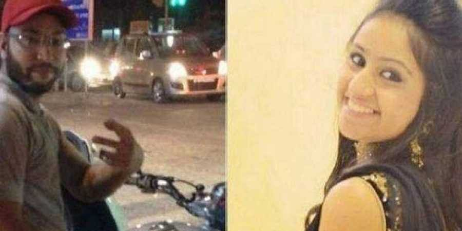 (Left) Sarvjeet Singh who was accused of harassing and molesting Jasleen Kaur (right)