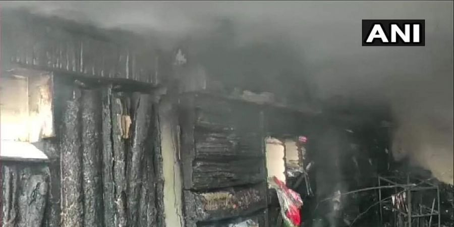 The blaze erupted in the building located in Pachore town of Rajgarh district