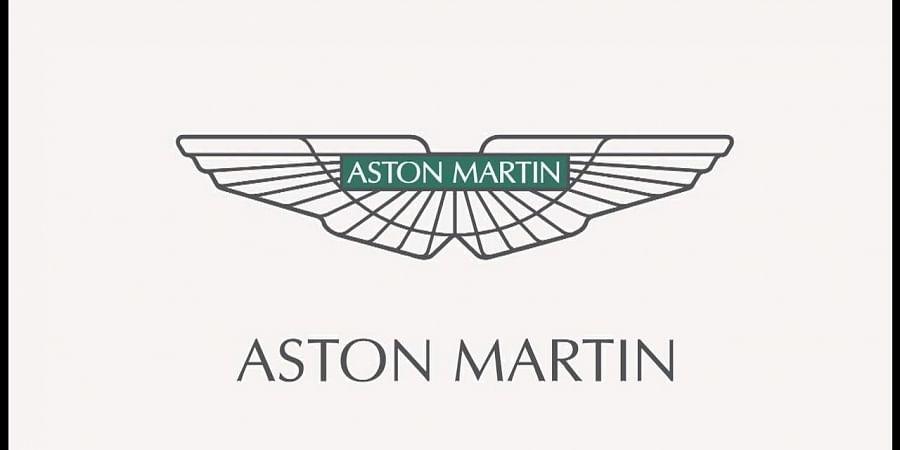 Luxury sports carmaker Aston Martin's logo.