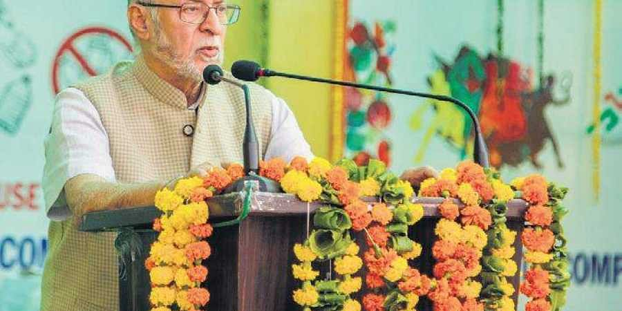 L-G Anil Baijal called for awareness on perils of plastic pollution