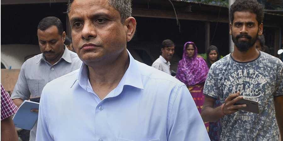 Former Kolkata Police Commissioner Rajeev Kumar appears before the Alipore court in connection with the Saradha scam case in Kolkata