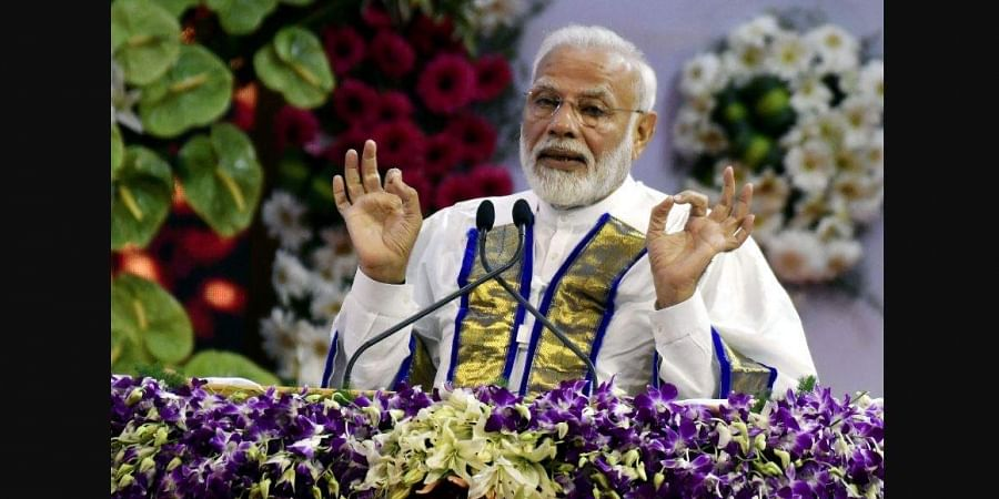Prime Minister Narendra Modi at the convocation of IIT Madras on Monday in Chennai.   (Photo   P Jawahar/EPS)