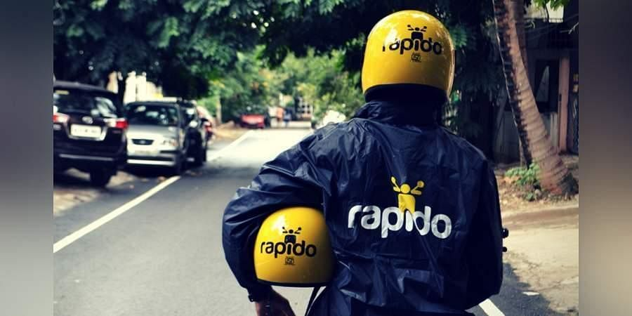 An image of a Rapido bike taxi driver used for representational purposes only. (Photo | EPS)