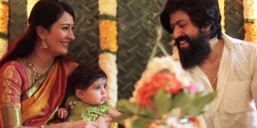 Kannada celebrity couple Yash and Radhika Pandit welcome baby boy