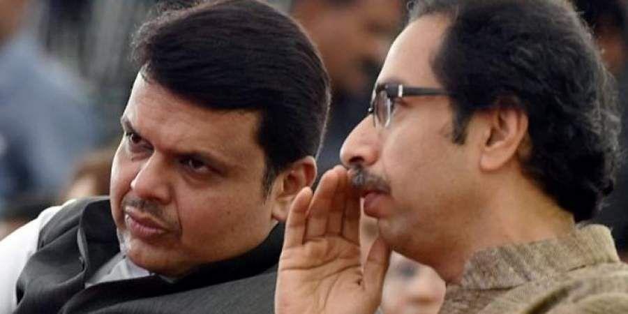 BJP leader Devendra Fadnavis and Shiv Sena chief Uddhav Thackeray