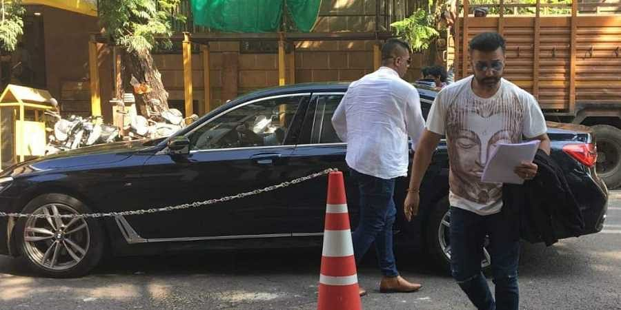Businessman Raj Kundra arrives at the ED office in Mumbai