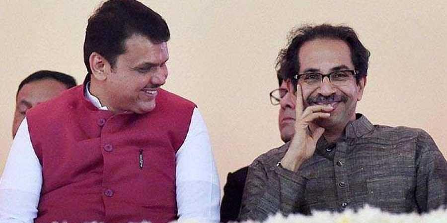 Maharashtra CM Devendra Fadnavis with Shiv Sena chief Uddhav Thackeray