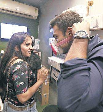 With rise in pollution, masks are hot property in the Capital.