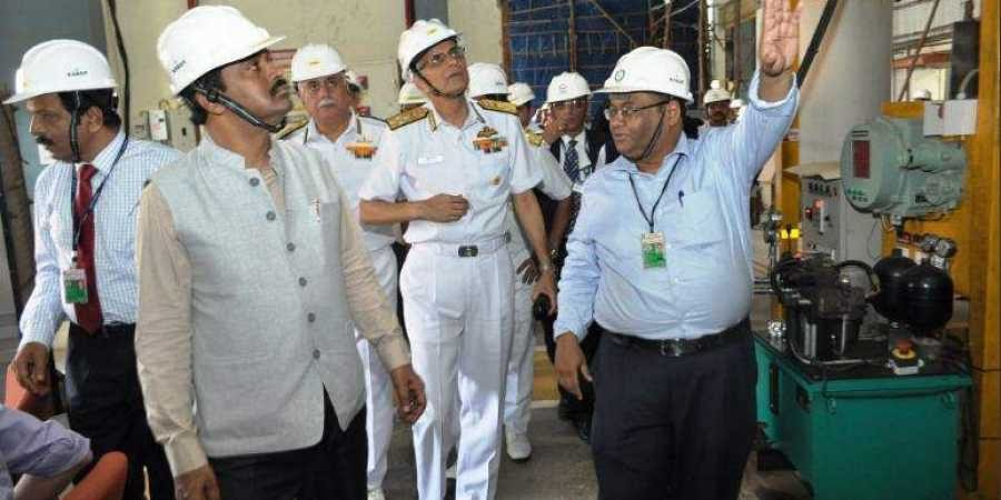 Navy Chief Admiral Karambir Singh witnesses operation of land-based prototype of DRDO's Air Independent Propulsion system at Naval Materials Research Lab in Ambernath.