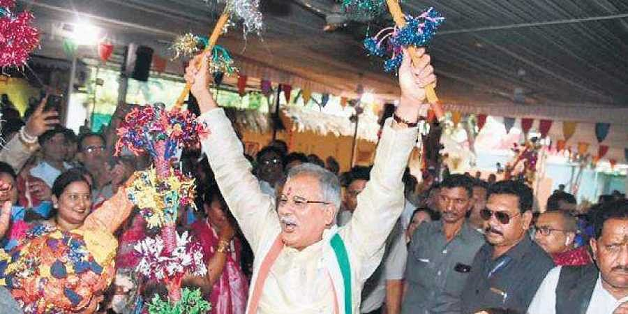 CM Bhupesh Baghel celebrating Guathan Diwas