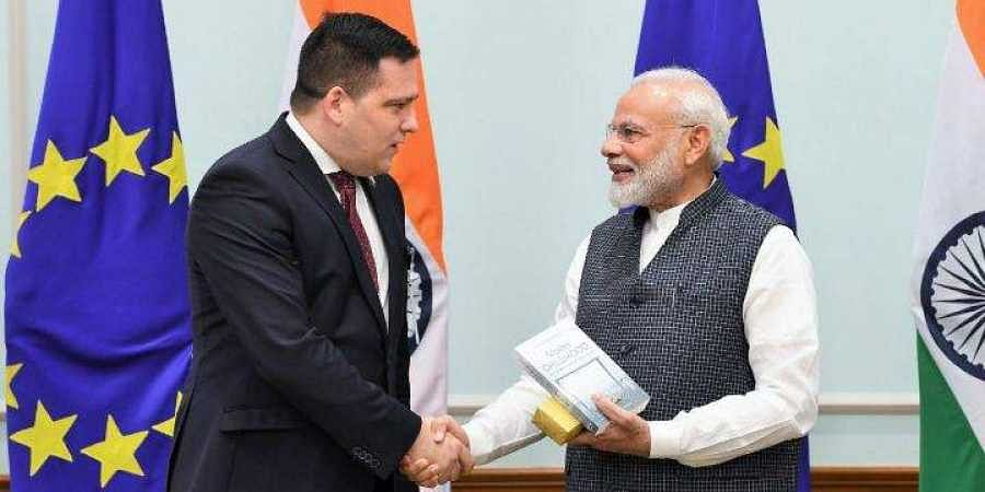 Tomas Zdechovsky, Member of the European Parliament with Prime Minister of India Narendra Modi