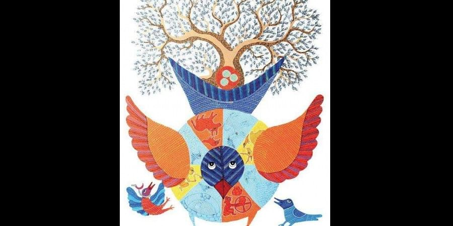All of his illustrations echo the ecological sublimity of his village, Pattangarh in Madhya Pradesh.