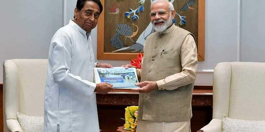 Madhya Pradesh Chief Minister Kamal Nath with Prime Minister Narendra Modi.