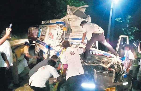 Patient, driver die as ambulance rams private bus