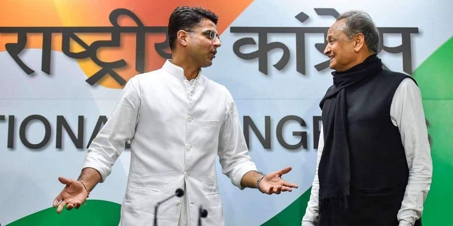 Rajasthan CM Ashok Gehlot and deputy CM Sachin Pilot.