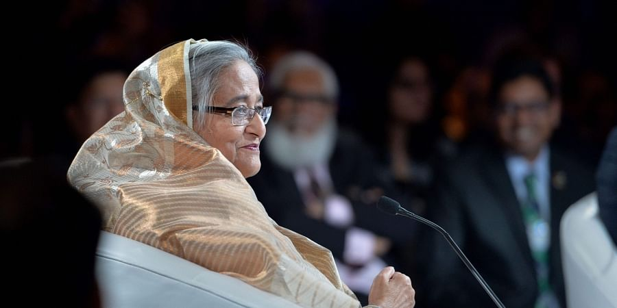 Bangladeshi Prime Minister Sheikh Hasina during the closing session 'Innovating for India Strengthening South Asia Impacting the World' at the India Economic Summit 2019. (Photo | PTI)
