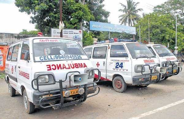 Ambulances in Tamil Nadu to be mapped to prevent use for illegal activities