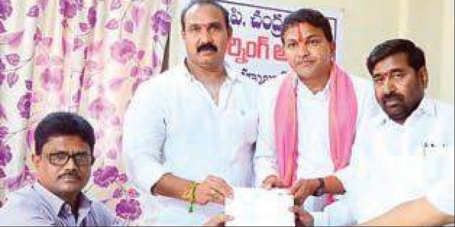 From right, S Saidi Reddy of TRS