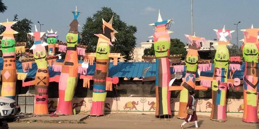 Traders and artisans at the Ravana Mandi are disappointed at the lack of demand for their effigies this year.