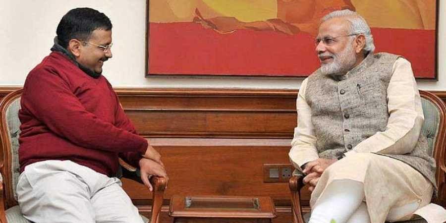 Prime Minister Narendra Modi and Delhi Chief Minister Arvind Kejriwal (Photo | File, PTI)