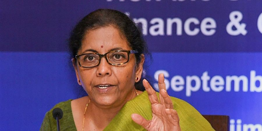 Finance Minister Nirmala Sitharaman addresses a press conference ahead of the 37th meeting of the GST Council in Panaji Friday September 20, 2019. | PTI