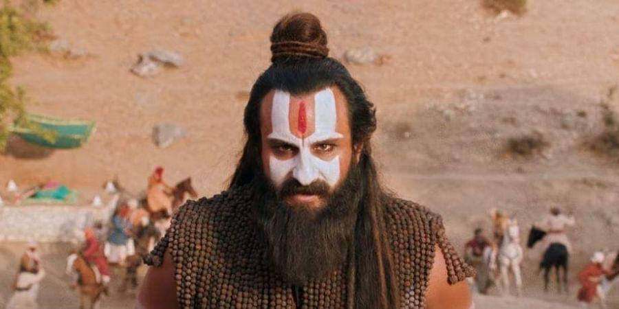 Saif Ali Khan in and as 'Laal Kaptaan'.
