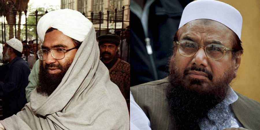 Jaish-e-Mohammed chief Masood Azhar (L) and LeT co-founder and 26/11 attacks mastermind Hafiz Saeed (R)