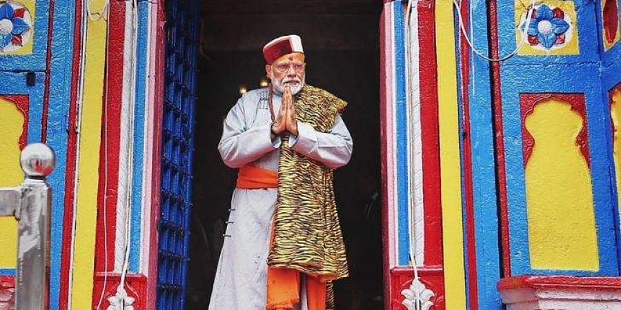 Prime Minister Narendra Modi after paying obeisance at Kedarnath Temple during his two day pilgrimage to Himalayan shrines in Rudraprayag district Saturday May 18 2019. | (File | PTI)