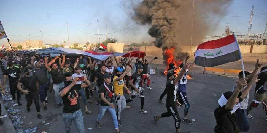 Baghdad, Iraq protest