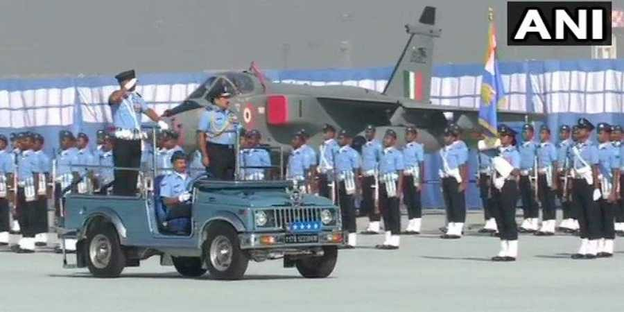 Indian Air Force (IAF) celebrates 87th anniversary on Air Force Day 2019 at Hindon Air Base in Ghaziabad. | (Photo | ANI)