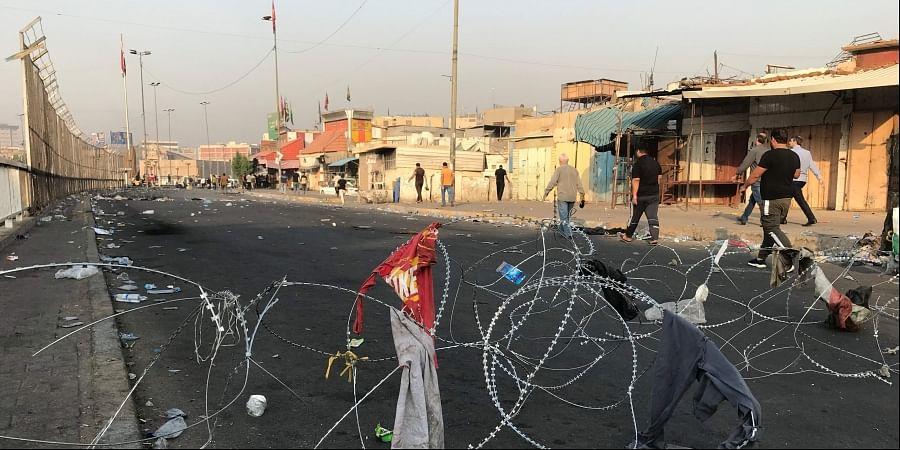 Baghdad curfew, Iraq protest