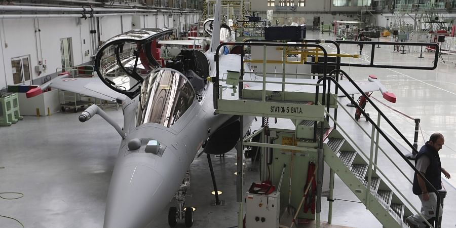 The Rafale jet fighter assembly line is pictured in Merignac, near Bordeaux, southwestern France, Tuesday, Oct. 8, 2019. | (Photo | AP)