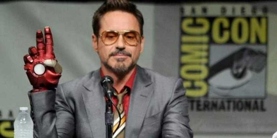 Robert Downey Jr at an event for 'Iron Man'.