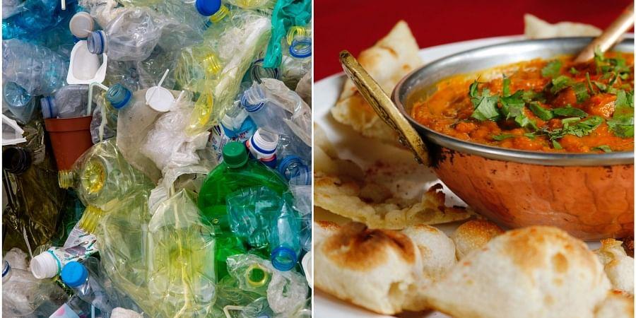 food, plastic, garbage cafe