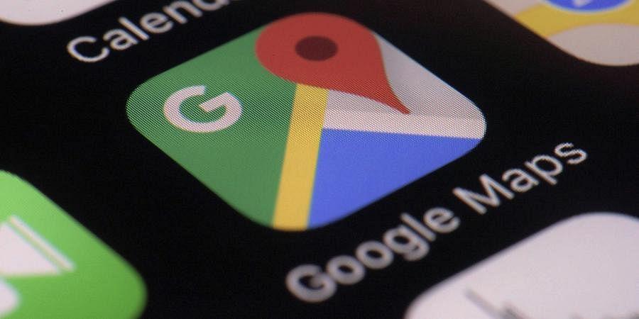 Google Maps app on a smartphone