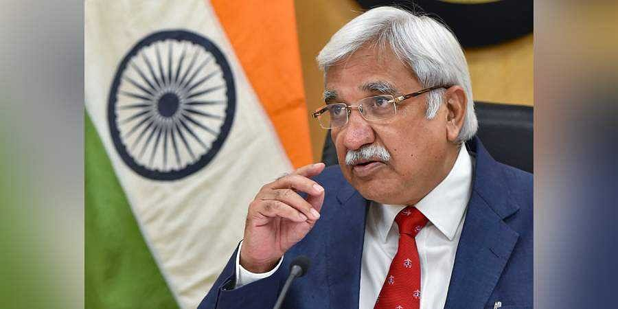 Chief Election Commissioner Sunil Arora speaks during a press conference to announce the schedule for Jharkhand Assembly polls, at Nirvachan Sadan in New Delhi