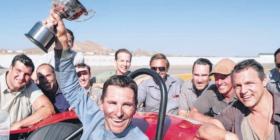 All smiles: On the sets of Ford v Ferrari