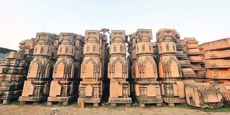 Stone slabs prepared for the proposed temple in Ayodhya