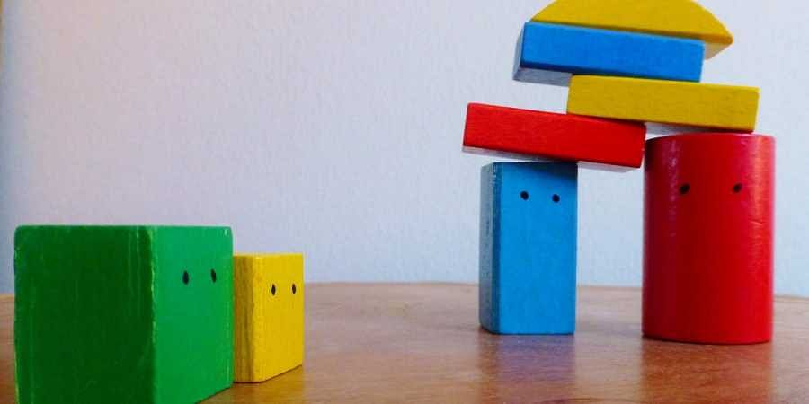 play therapy, building blocks