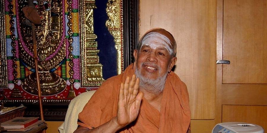 Late Kanchi Mutt head Jayendra Saraswathi.   (File   EPS)