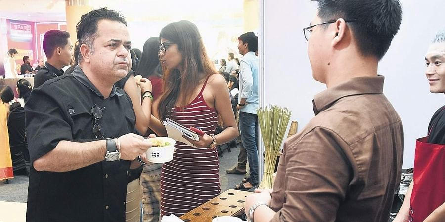 Chef Vicky Ratnani during a tasting session