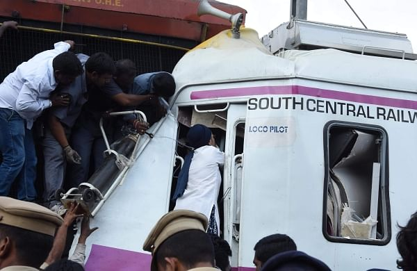 Hyderabad train mishap: Stuck in mangled cabin, MMTS loco pilot saved after 8-hour rescue operation