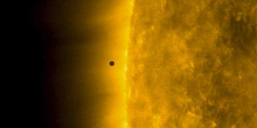 Screengrab from video released by NASA's Solar Dynamics Observatory shows Mercury as it passes between Earth and the sun on Monday, Nov. 11, 2019.